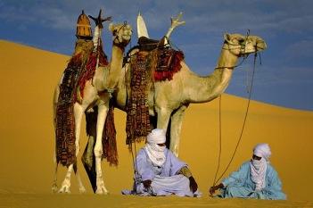 Libia Tuareg e cammelli
